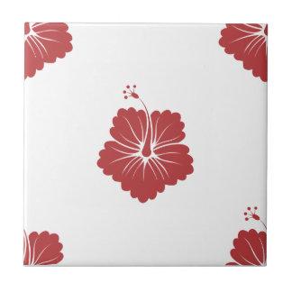 Flower Pattern 3 Aurora Red Tiles