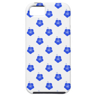 Flower Pattern 3 Blue iPhone 5 Case