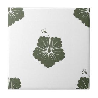Flower Pattern 3 Cypress Ceramic Tile
