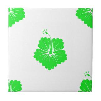 Flower Pattern 3 Green Tiles