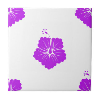 Flower Pattern 3 Purple Tiles