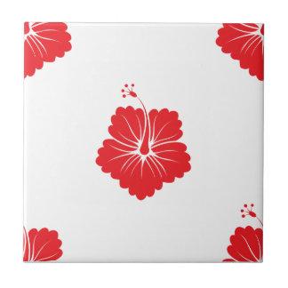 Flower Pattern 3 Red Tile