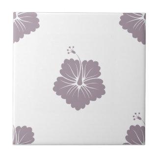 Flower Pattern 3 Sea Fog Ceramic Tile