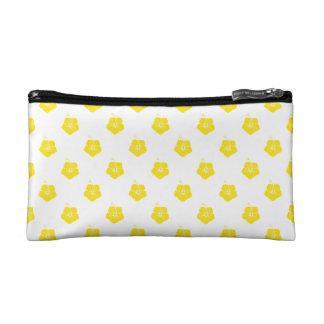 Flower Pattern 3 Yellow Cosmetics Bags