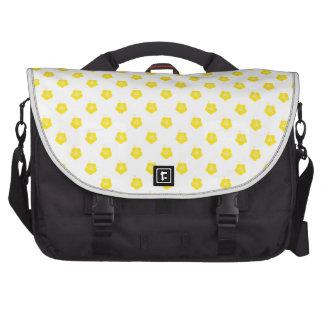 Flower Pattern 3 Yellow Laptop Bags