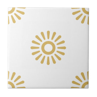 Flower Pattern 6 Misted Yellow Small Square Tile