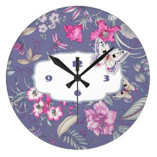 Flower Pattern Design Gift Wall Clock