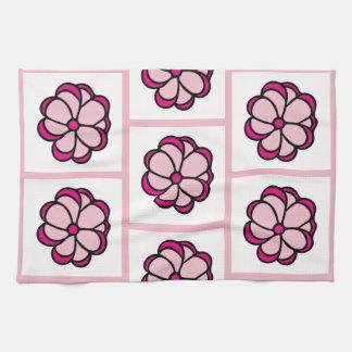 Flower Pattern Dishtowel - Pink Kitchen Towels