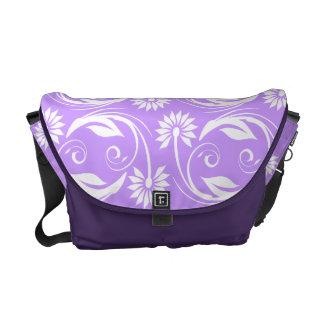 Flower pattern elegant floral swirl courier bags