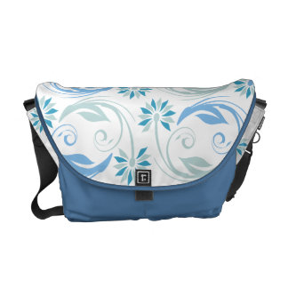Flower pattern elegant floral swirl messenger bags