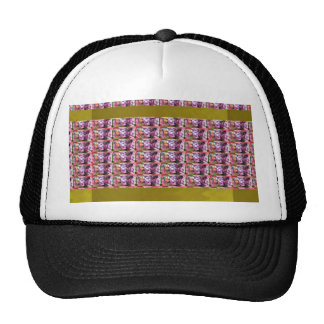 Flower Pattern Elegant Gifts all occasions Purple Mesh Hats