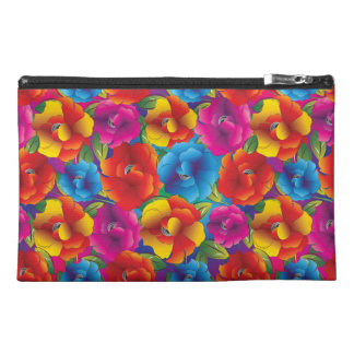Flower Pattern Four Travel Accessory Bag