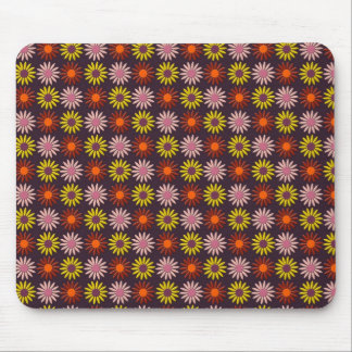 Flower Pattern in Maroon Tones and Background Mouse Pad