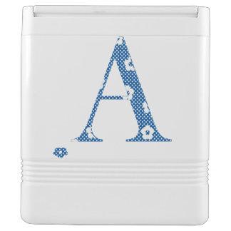 Flower Pattern Letter A (blue) Cooler