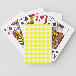 Flower Pattern Summer Flowers Yellow Sunshine Playing Cards