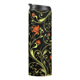 Flower Pattern Thermal Tumbler