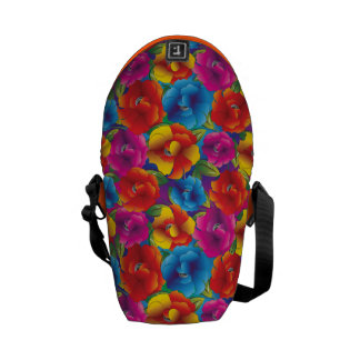 Flower Pattern Three Courier Bags
