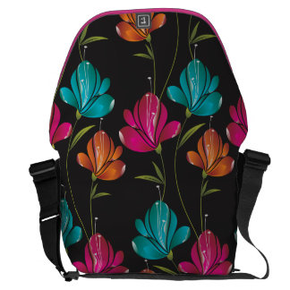 Flower Pattern Two Courier Bag