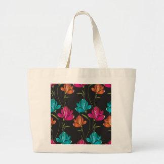Flower Pattern Two Jumbo Tote Bag