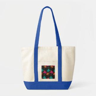 Flower Pattern Two Impulse Tote Bag