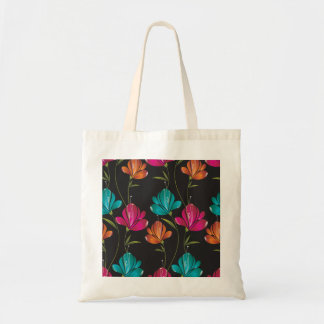 Flower Pattern Two Budget Tote Bag