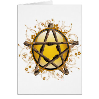 Flower Pentagram Card