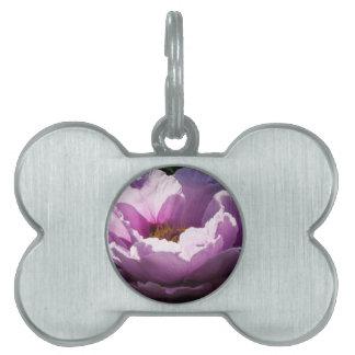 flower pet tag