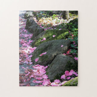 Flower Petals on the Ground Jigsaw Puzzle