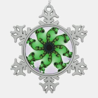 Flower Pewter Snowflake Decoration