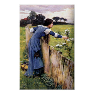 Flower Picker by John Waterhouse Print