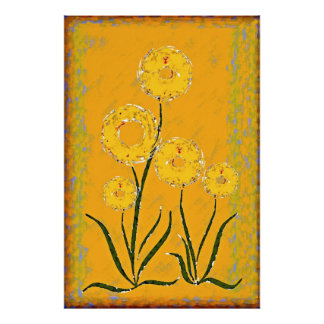 Flower picture poster