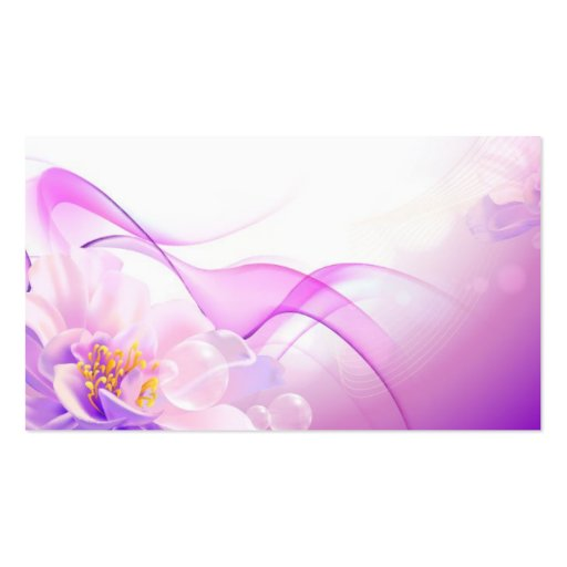 Flower-Pink-Background-Vector-Art DIGITAL REALISM Business Card