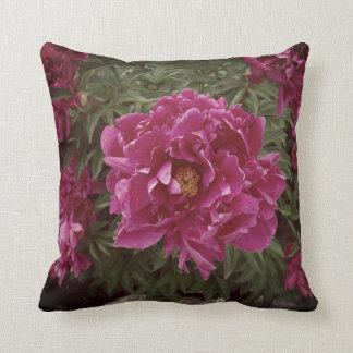 Flower Pink Peony Photo Throw Cushion 41 cm x 41