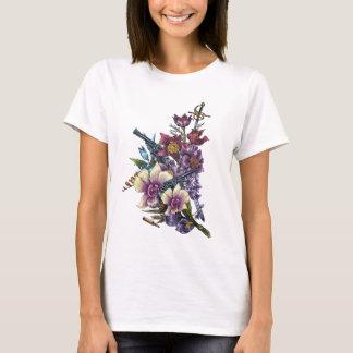 Flower Pistol Guns Design T-Shirt