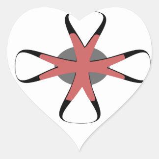flower plus heart sticker