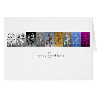 Flower Pop Art : Happy Birthday Card