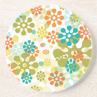 Flower Pop Drink Coasters