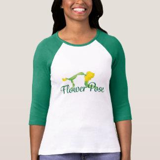 (Flower Pose) Women's 3/4 Sleeve T-Shirt