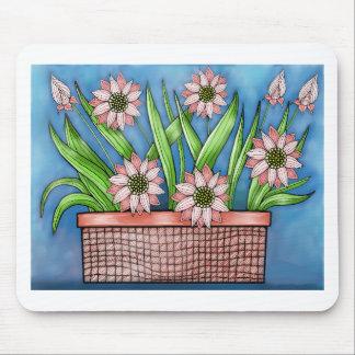 Flower Pot Color Mouse Pad