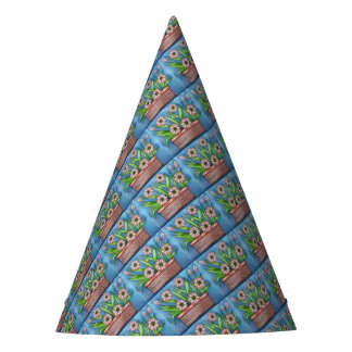 Flower Pot Color Party Hat