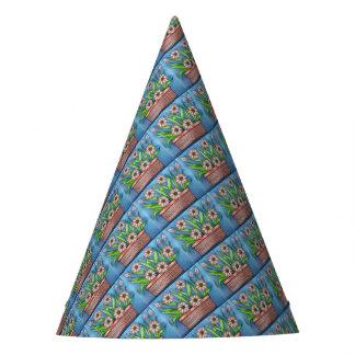 Flower Pot Color Party Hat