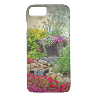 flower pot in garden iPhone 7 case