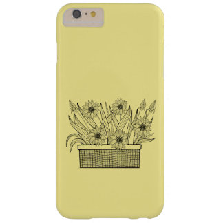 Flower Pot Line Art Design Barely There iPhone 6 Plus Case