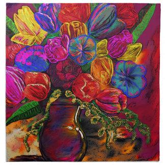 Flower Pot Painting Napkin