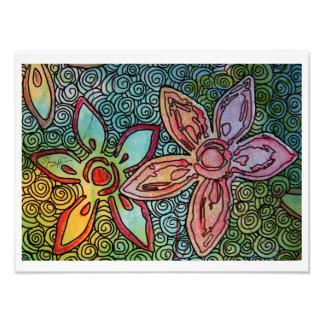 Flower Potato Carving with swirls Photo Print