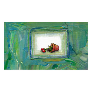 Flower potted plant gardening painting art fallen business card template