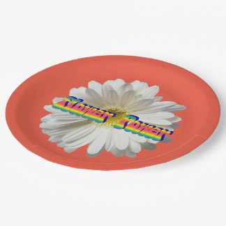 Flower Power 2 Paper Plate