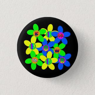 Flower Power 60s-70s 3 Cm Round Badge