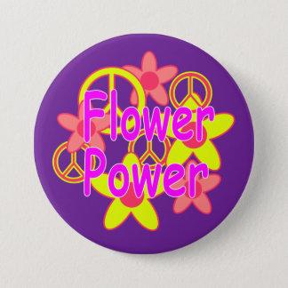 Flower Power 7.5 Cm Round Badge