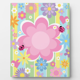 Flower Power 8 x 10 With Easel Display Plaque